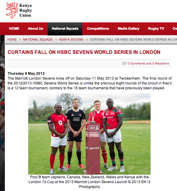 London 7s 2013 Launch