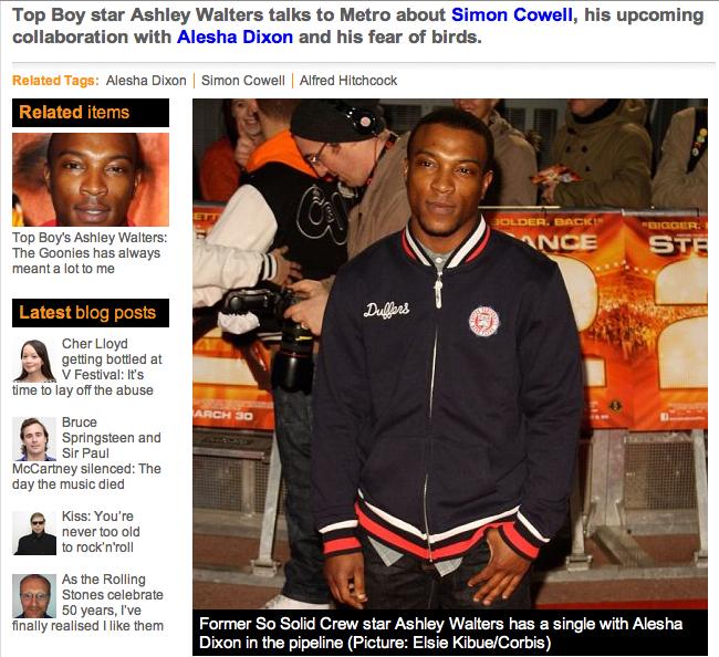 Metro Online article - July 2012