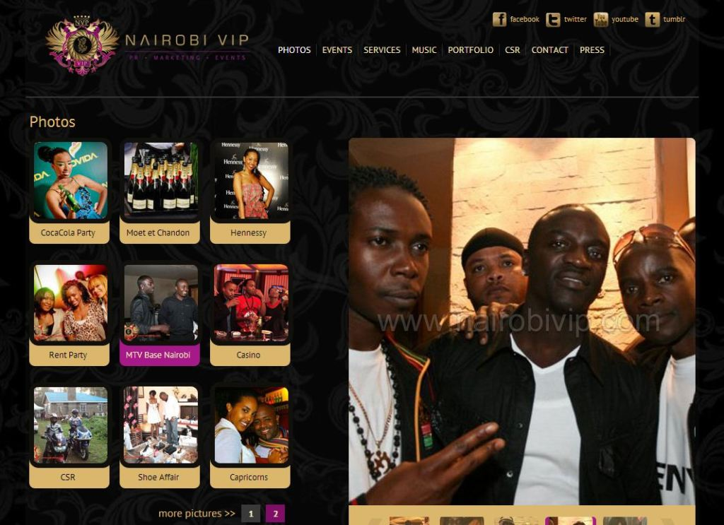 All White Party at The Tribe Hotel - MTV Base Awards 2009 in Nairobi