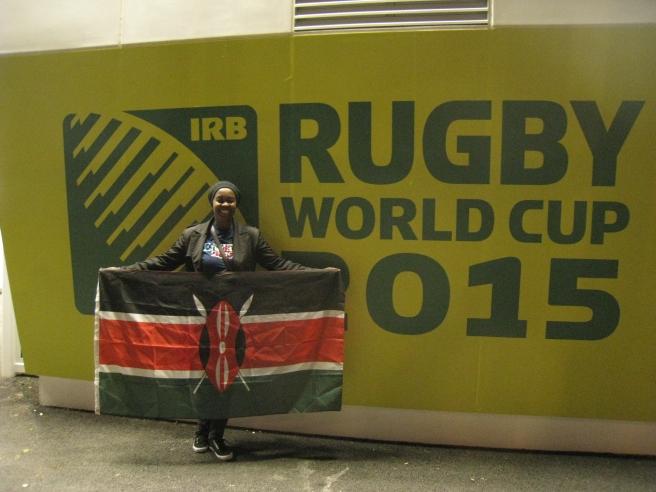That random Kenyan rugby fan at the RWC 2015.