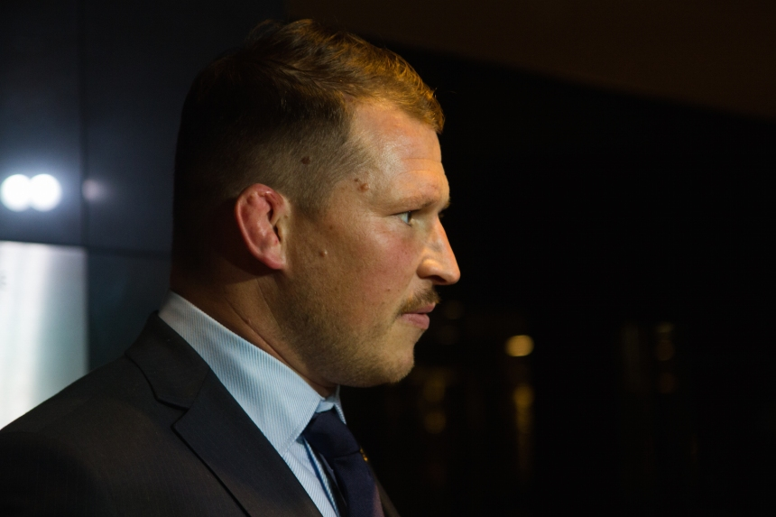 London, UK. 13th November 2016. Dylan Hartley (England captain) arriving for the World Rugby Awards held at The Hilton London Metropole to honour the world's greatest players, coaches and legends of the game. © Elsie Kibue