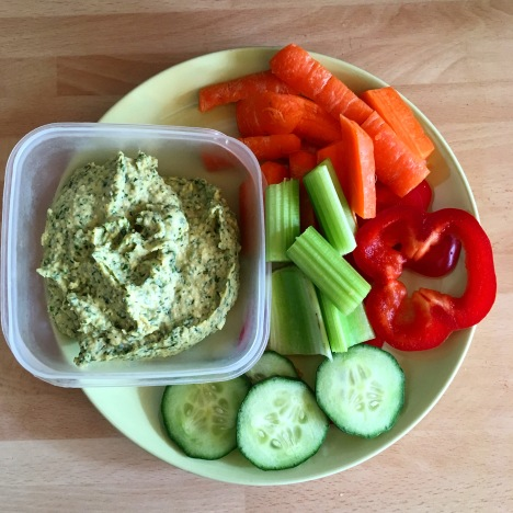 Herbalicious Hummus with Veggies