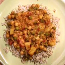Indian Coconut Curry with Brown Rice