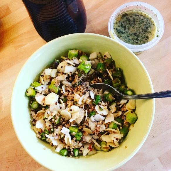Asparagus Quinoa Salad with Dijon Vinaigrette