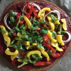 Veggie Pizza with Quinoa Crust
