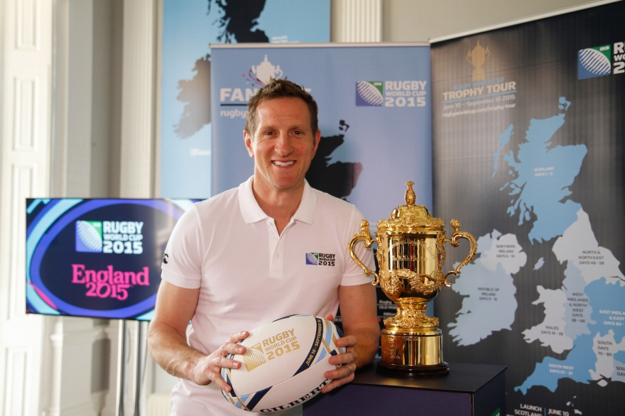 England 2015 official Fan Zones and Webb Ellis Cup UK & Ireland tour announcement. London, UK.