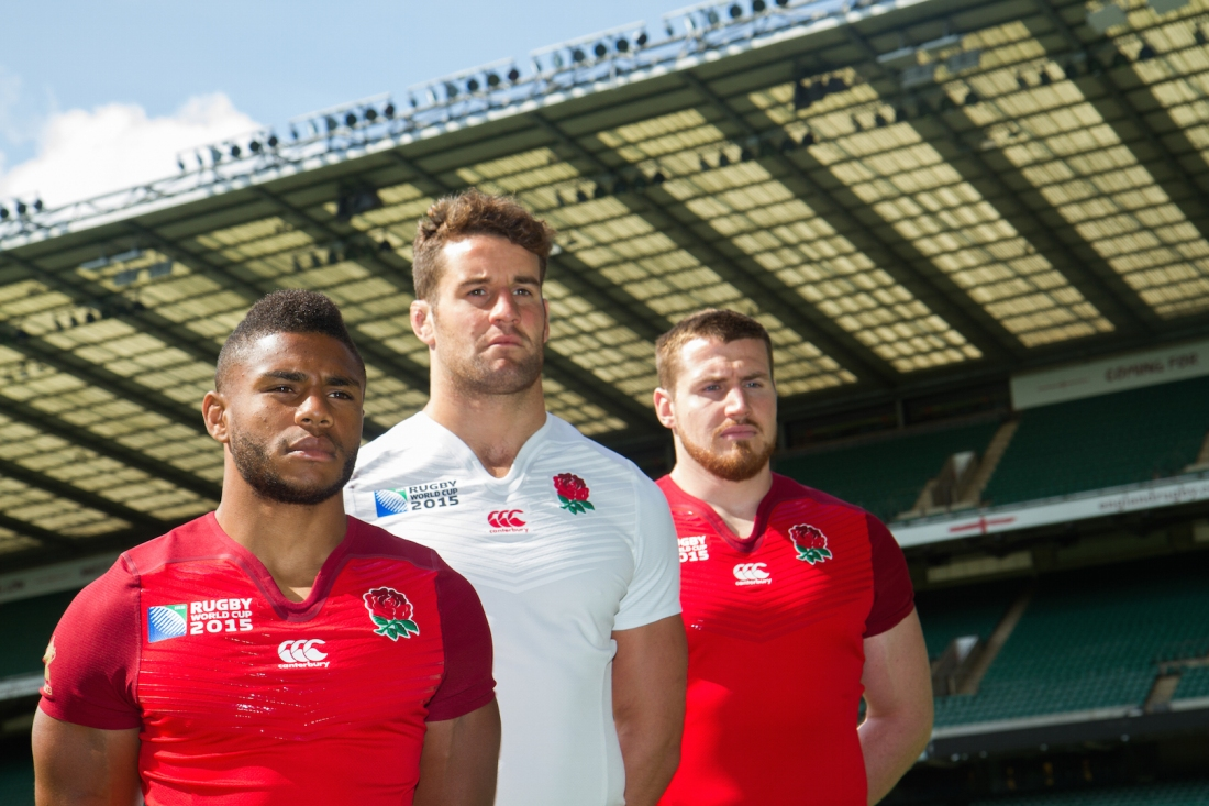 England Rugby World Cup 2015 Shirt Launch. London, U.K.
