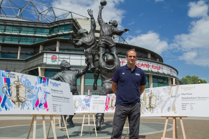Rugby World Cup 2015 Ticket Design Launch